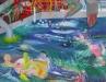 Heilwasser 2009 190/160 cm  Öl/Lw.