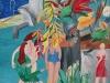 Umwelt, Frauen, Frieden  2007   250/150 cm  Öl/Lw.